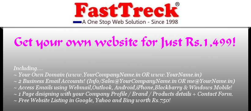 Get Yourself Online! Just Pay Rs.1,499