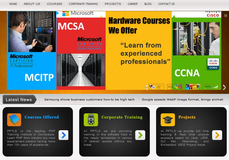 Training for Java technology, .net technology, android, PHP/MySQL training, SEO techniques