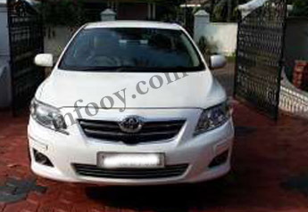 2010 white Toyota Corolla Altis (diesel) for sale- Kochi