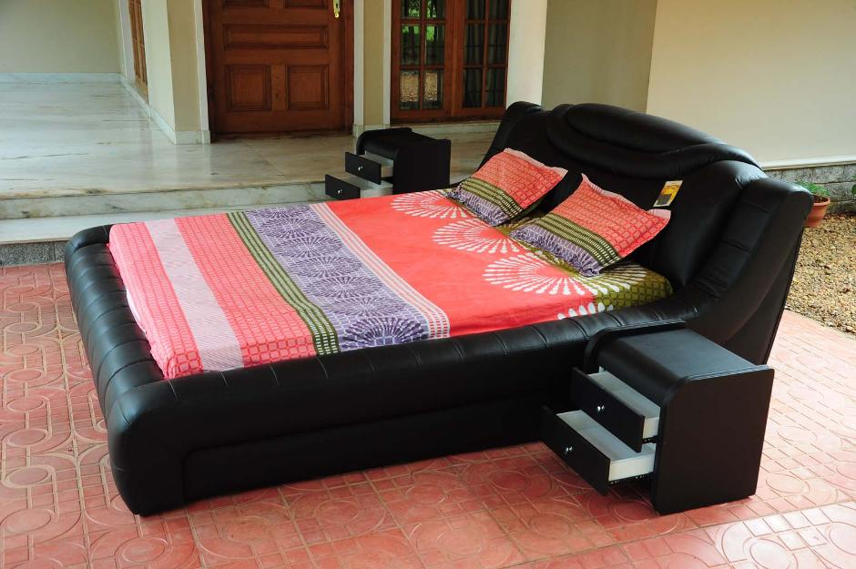 Imported King Leather Bed for sale-Kottayam