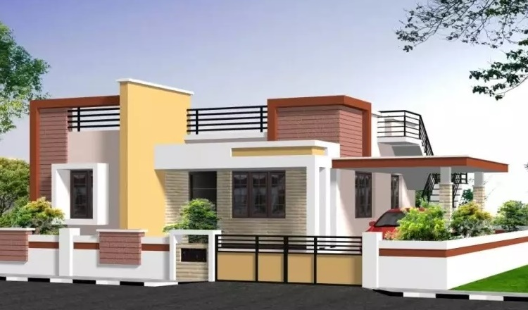 4bhk furnished villa with 9 cents land