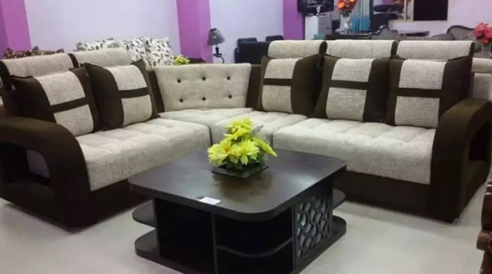White And Black Sectional Sofa