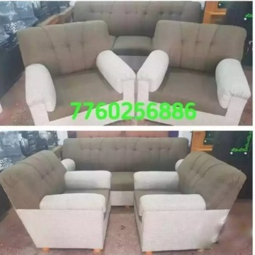 Durian finish new luxury fabric sofa set