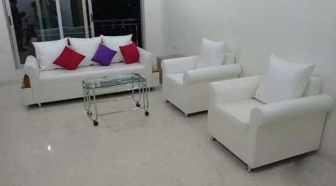 sofa set 3+1+1 with pillows very minimum price ,in fabric