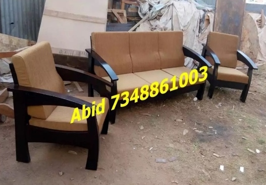 latest design wooden sofa set
