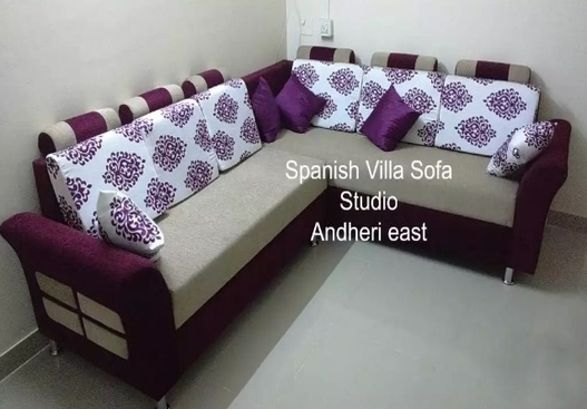 corner sofa in saal wood frame